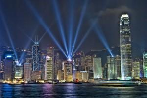 Sinfonia das Luzes, em Hong Kong