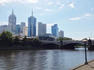 Melbourne: às margens do rio