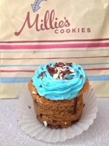 Novidade: cookie cupcake da Millie's