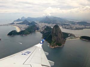 Rio de Janeiro visto do avião.