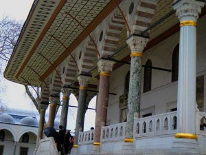 Dentro do Topkapi Sarayi em Istambul