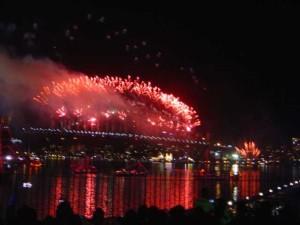 Fogos em Sydney (Austrália).