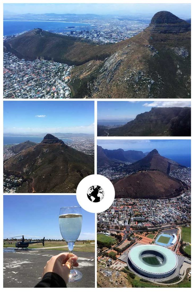 Voando de helicoptero na Cidade do Cabo