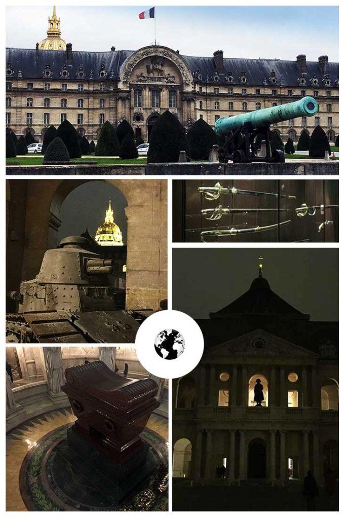 Canhões desde a fachada... e o túmulo de Napoleão!