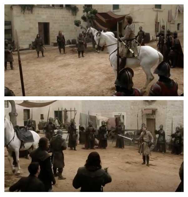 Jamie Lannister desafiou Ned Stark em Mdina
