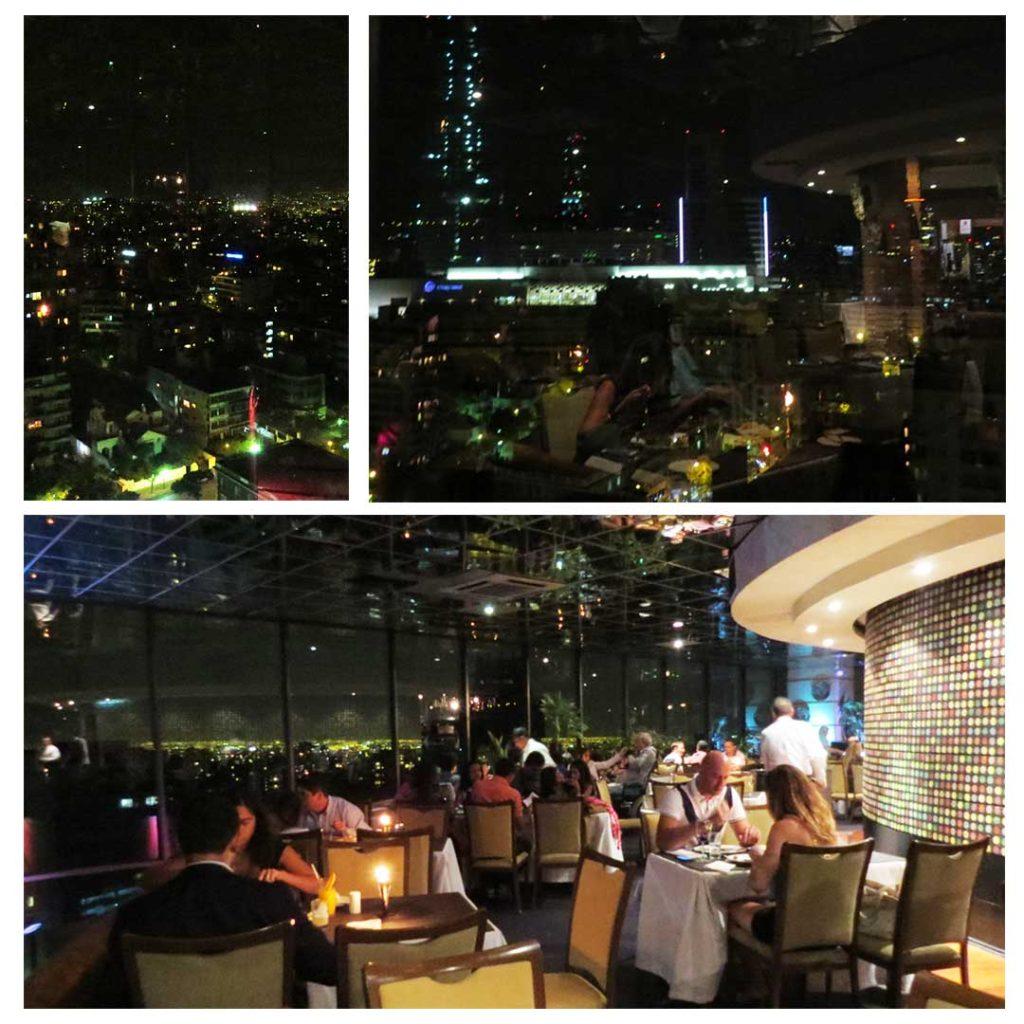 Jante com um vista panorâmica maravilhosa no Restaurante El Giratório (Santiago, Chile)