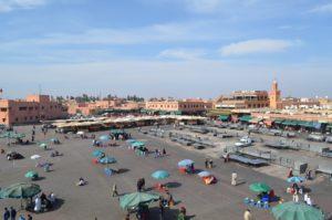 Praça Jemma El Fnaa em Marrakesh