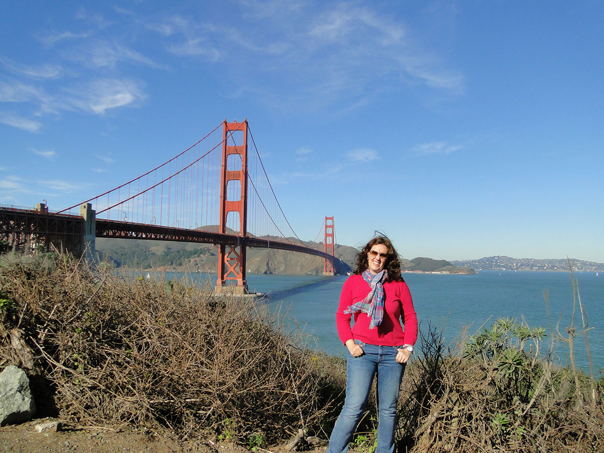 Andreza viajou sozinha para estudar São Francisco, EUA.