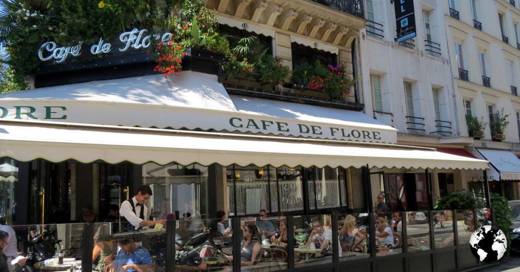O Café de Flores era um dos pontos de encontro de Sartre e Simone de Beauvoir
