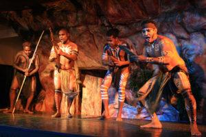 Show aborígene em Cairns.