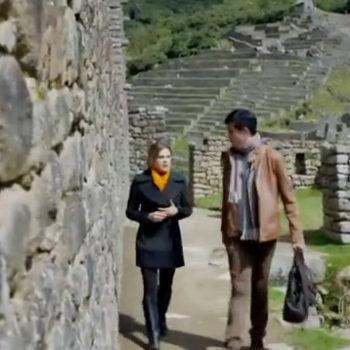 O vilão da novela também estava no Peru!