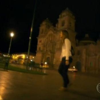 Paloma atordoada em plena Plaza de Armas de Cuzco