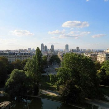 Vista do Parc des Buttes Chaumont