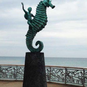 Estátua do Cavalo Marinho em Puerto Vallarta