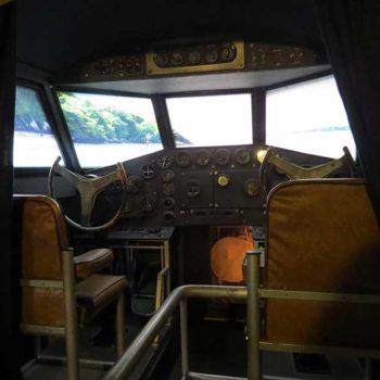 Réplica do Boeing 314: cabine do piloto