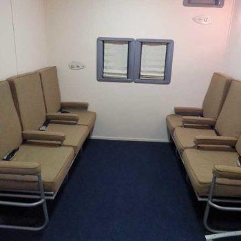 Réplica do Boeing 314: olha quanto espaço para as pernas!