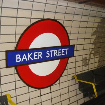 Metrô Baker Street já entrando no clima