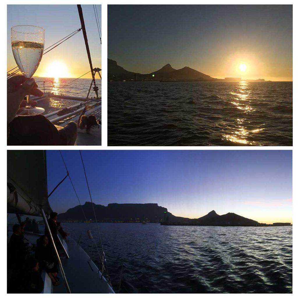 Passeio de barco com direito a champagne e pôr do sol