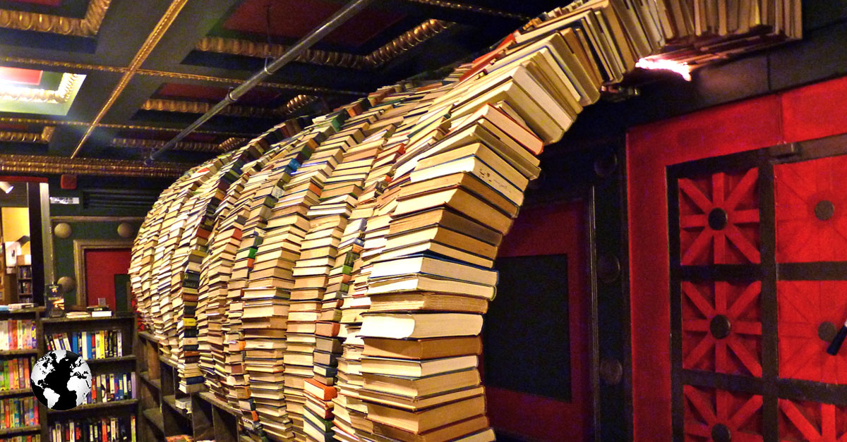 The Last Bookstore, Los Angeles, Califórnia.