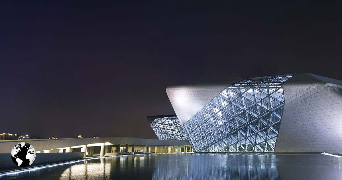 Guangzhou Opera House, Guangdong, China.