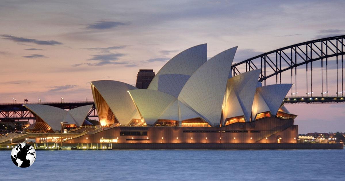 Sydney Opera House, Sydney, Austrália.